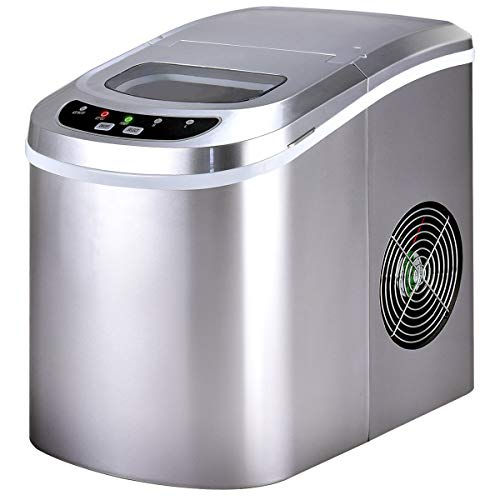 Costway Counter Top Ice Maker Machine Portable Compact Electric High Efficiency Express Ice Making Machine Mini Cube 26lb of Ice per 24 hours with Ice Scoop