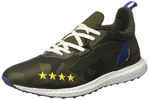 Invicta Microfibre Unisexe Adulte Faible Sneaker, Bleu-vert (militare 037)