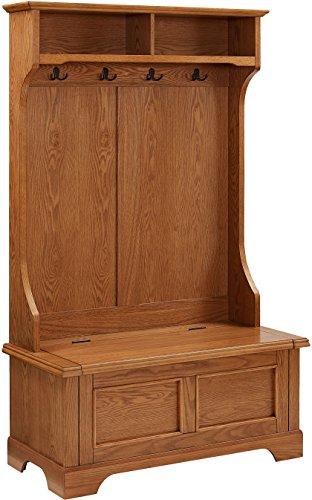Crosley Furniture Campbell Hall Tree - Oak from Crosley Furniture