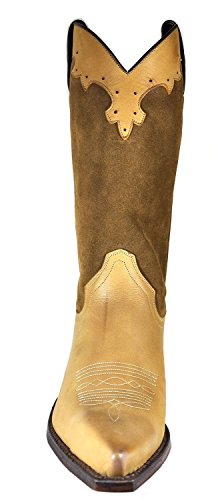 Tony Mora Damen Cowboy Boots Cowboystiefel Nubuk Serraje Tabaco 38