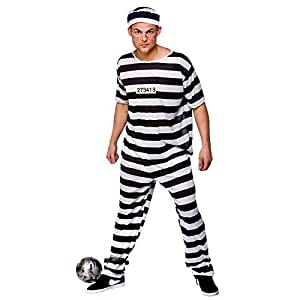 Wicked - Disfraz de presidiario para hombre, talla XL (EM-3129. XL)