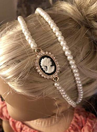 Pearl /& Cameo Headband for 18 inch Dolls