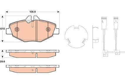 TRW TPC1078 Premium Ceramic Front Disc Brake Pad Set