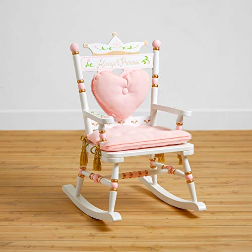 Wildkin Royal Rocking Chair, Features Removable Plush Cushions and Gilded Tassels, Perfect for The Little Princess in Your Life - White ()