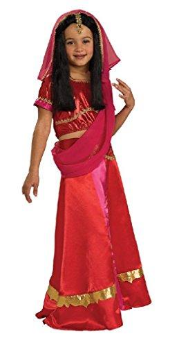 Ponce Girls Bollywood Costume Childrens Bolly Wood Hindu Princess Child Sari (Hindu Halloween Costumes)