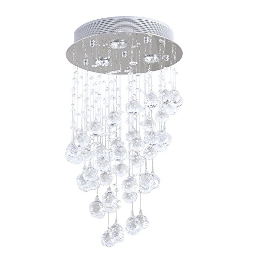 Ikakon Crystal Chandeliers Contemporary Ceiling Light CrystalLight Fixture with 3 ighting for Living Room Dining Room Bedroom For Sale