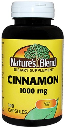 Nature's Blend Cinnamon Capsules 1,000 mg, 100 Count Per Bottle (12 Bottles) by Nat Blend