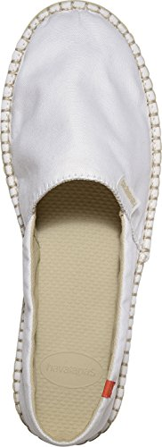 Havaianas Origine Womens Canvas Espadrille Shoes - Various Colours White Cmp6w