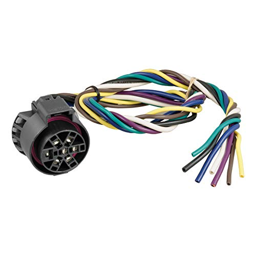 CURT 56229 Replacement USCAR Connector Wiring Harness, 24-Inch Wires, 7 Pin Trailer Wiring ()