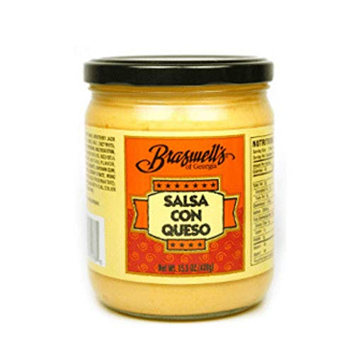 (Braswell's Salsa Con Queso Salsa Con Queso Topping for Nachos and Chips | Cheese Dip Queso Cheese | No Trans Fat | Low Carbs | Delicious Sauce |Real Cheese| Medium Creamy Dip | Dip Queso | Dip Chips)