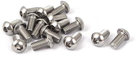 uxcell 六角穴付きボルト スクリューネイル ネジ釘 ボタンヘッド M8 x 16mm 16個