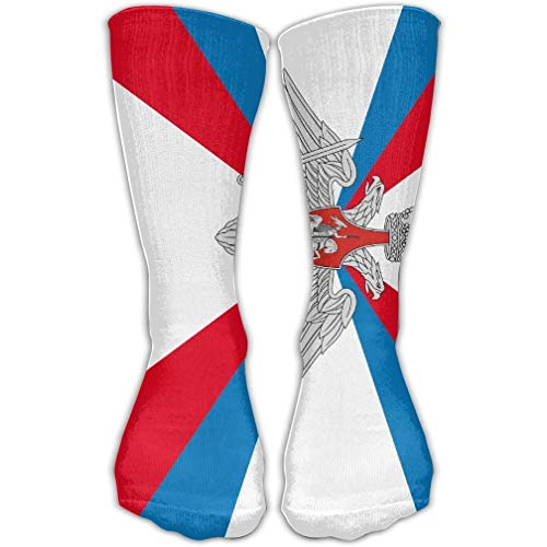 Federation Cycling Socks - HUASEN Flag Of The Ministry Of Defence Of Russian Federation Long Novelty High Athletic Sock Outdoor Gift