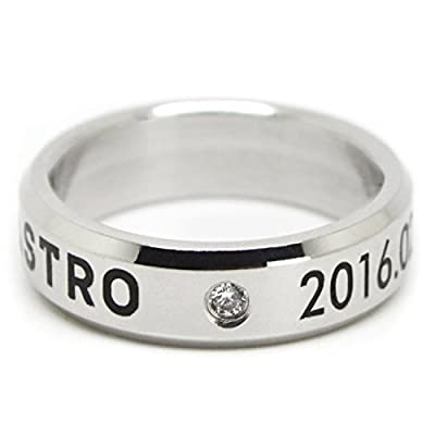 Fanstown Astro Kpop Ring Necklace Team Logo and Member Name Birth Day Ring with lomo Cards: Toys & Games