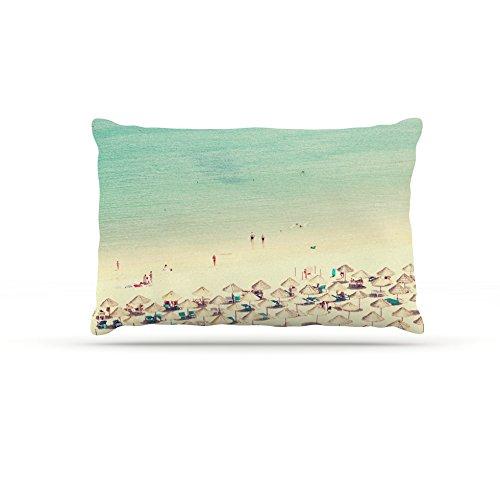 Kess InHouse Ingrid Beddoes Happy Summer  Fleece Dog Bed, 50 by 60 , Beach