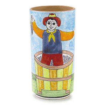 Nino Parrucca Hand Painted Wine Bottle Cooler - Handmade in Sicily