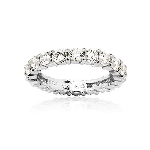 Sterling Silver Eternity Band Bridal Ring created with Swarovski Zirconia