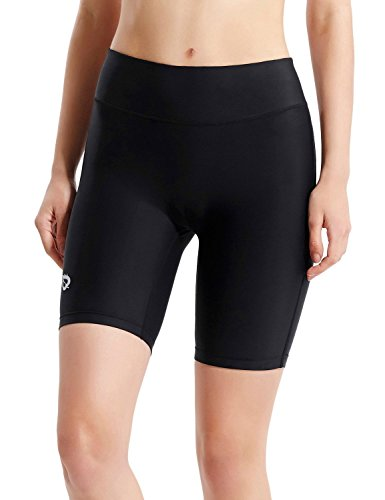 Baleaf Women's 7″ Active Fitness Yoga Running Shorts Pocket Black Size M