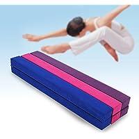 220 cm balansbalk voor gymnastiektraining, opvouwbaar, van kunstleer, voor training thuis of in de sportschool.