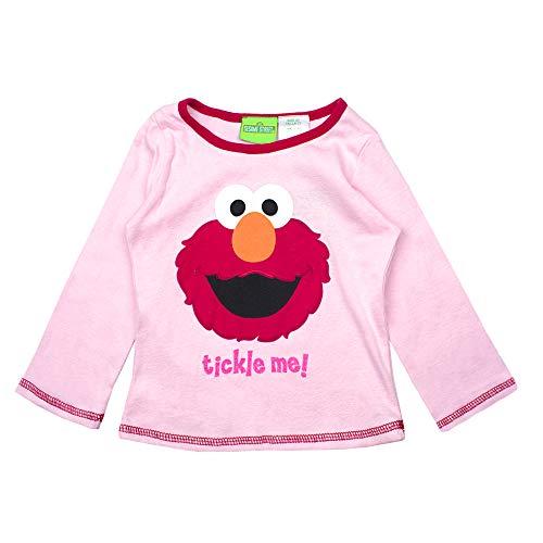 Sesame Street Long Sleeve T-Shirt Long Sleeve Tees - Elmo, Cookie Monster & Friends (Elmo, 3T)