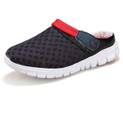 Summer Sandals, Summer Breathable Mesh Hollow Out Sandals Unisex Couples Casual Shoes - Bohemia Heels Ladies Ankle Strap Buckle Shoes Flat Wedges Shoes Lovely Footwear Flip Flop Sandal Red