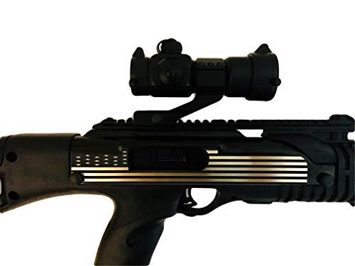 - Tejas Products Hi-Point Carbine Self Adhesive Decorative 2 Piece Sticker Set - American Flag Design - Gold