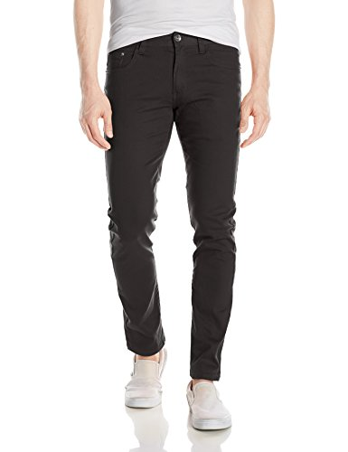 WT02 Men's Basic Color Twill Stretch Span Pants, Black(New), 36X30 - Skinny Stretch Pants