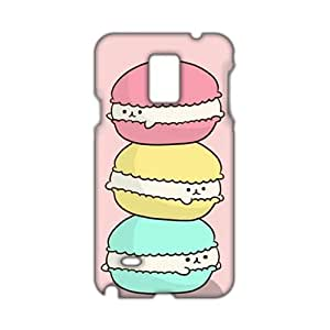 Lovely cat hamburger 3D Phone Case for Diy For SamSung Note 4 Case Cover