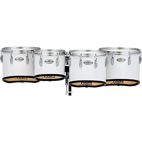 Pearl Championship Maple Marching Tenor Drums Quad Sonic Cut 10 in. Pure White (Quad Marching Drums)