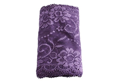 Wide Stretch Lace for Headband Lingerie Arm Warmer and Leg Warmer (Purple)