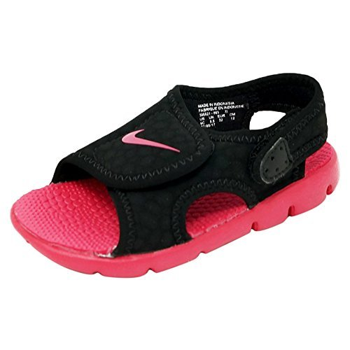 Nike Sunray Adjust 4  Gs Ps  Girls Sandals Black Rush Pink  3 M Us Little Kid