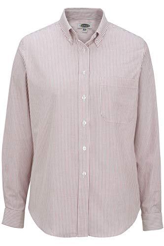 Edwards Ladies' Long Sleeve Oxford Shirt Large Burgundy Stripe