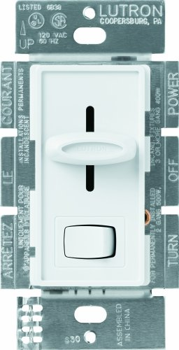 - Lutron S-600P-WH 600-Watt Skylark Single-Pole Dimmer, White