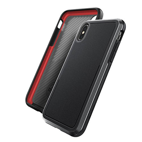 iPhone X, iPhone Xs Case, X-Doria Defense Ultra Series - Heavy Duty Protective Case with Anodized Aluminum Frame, Military Grade Drop Tested Case for Apple iPhone X, iPhone Xs, iPhone 10, [Black]