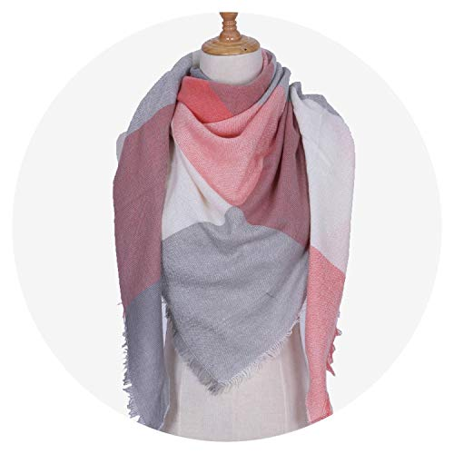 Luxury Winter Triangle Scarf Women Shawls and Wraps Cashmere Foulard Solid Color Scarves Blanket,21