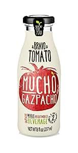 Mucho Gazpacho (Whole Vegetables Beverage) Bravo Tomato, 12 Bottles