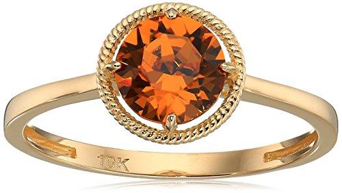 - 10k Gold Swarovski Crystal November Birthstone Ring, Size 7