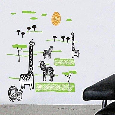 PI pegatinas de pared Tatuajes de pared, áfrica jirafa leones ...