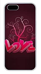 3D Heart And Tree Polycarbonate Plastic iPhone 5S and iPhone 5 Case Cover White