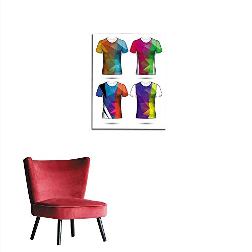 longbuyer Wall Picture Decoration t-Shirt templates Abstract Geometric Collection Polygonal Mosaic Mural 16