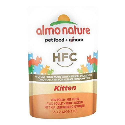 4X Almo Nature Cat Pouch HFC Cuisine Kitten 24 x 55g