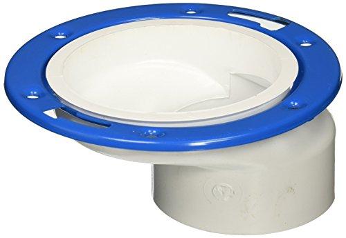 "Genova Products 75160 40 PVC-Dwv Offset Closet Flange Adjustable Ring, 4"" x 3"""