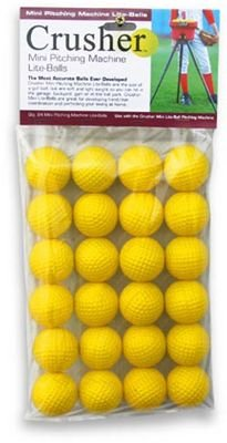 Heater Sports Mini Yellow Foam Dimple Balls - 2 Dz. by Heater Sports