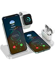 Wireless Charger 4 in 1, FDGAO 15W Fast Wireless Charger Station Charging for iPhone 12/11/X/XS/XR/Xs Max/8/8 Plus,Apple Watch Airpods,Qi Wireless Charger Stand Charge for Samsung Galaxy/Note and more