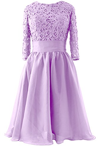 Sleeve Bride 4 Short Lavendel Women Evening 3 of Gown Dress Formal MACloth Mother Lace E8wqX8xt