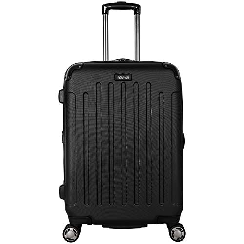 Kenneth Cole Reaction Renegade 24-Inch Lightweight Hardside 8-Wheel Spinner Expandable Checked Suitcase, Black