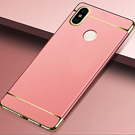 buy online b4996 4a875 03® Redmi Note 5 Pro/Xiaomi Redmi Note 5 Pro 3 in 1 Luxury Electroplating 3  in 1 Case for Redmi Note 5 Pro (Rose Gold)
