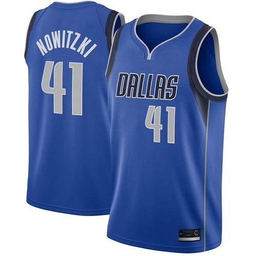 Jugendliche Dirk Nowitzki Icon Swingman Trikot T/&Q Jugendliche Dirk Nowitzki Dallas Mavericks Blau Trikot