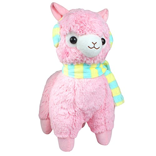 KSB 18'' Giant Pink Scarf And Earmuff Plush Alpaca,100% Plush Stuffed Animals Doll Toys,Best Birthday Gifts For The Children Kids Photo #2