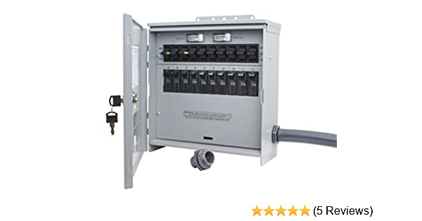 Amazon.com: R310A Pro/Tran2 Outdoor 30-Amp 10-Circuit 2 Manual Transfer Switch with L14-30 Power Inlet: Garden & Outdoor