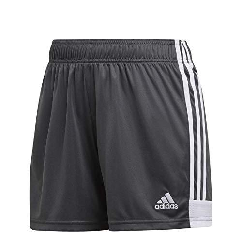 (adidas Women's Tastigo 19 Shorts, Dark Grey Heather/Solid Grey/White, X-Small)